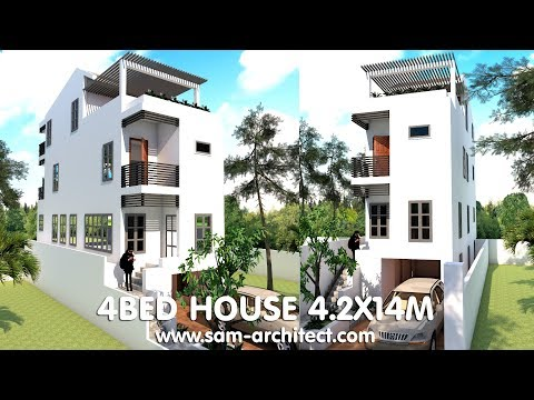 4 Stories Narrow House 4.2x14m With 4 Bedrooms Plan ... on narrow house elevations, narrow modern house, framing plans, narrow doors, narrow lot house, narrow sink, small lake lot plans, narrow house interior design, narrow art, narrow house layout, narrow beach house, narrow garden, narrow yard landscaping ideas, narrow house roof, narrow cabinets, narrow bedroom, narrow home, narrow 3 story house, narrow kitchens, narrow windows,