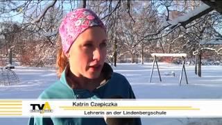 Geschwind über Eis und Schnee: Schüler trainieren für den Silvesterlauf