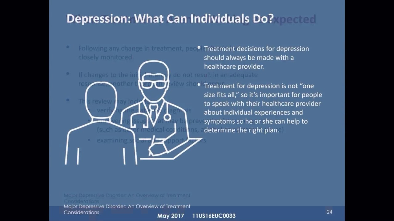 the depressive disorder an overview Depression is classified as a mood disorder  depression overview  there are  two main types: major depressive disorder and persistent.
