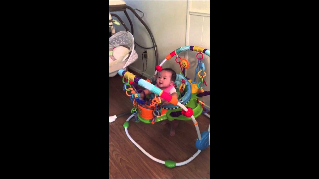 5 Month Old Baby Development Laughing Giggling Bouncing And