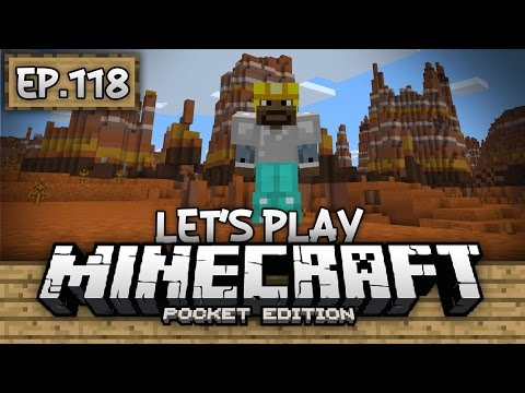 Survival Let's Play Ep. 118 - EXPLORING THE MESA! - Minecraft PE (Pocket Edition