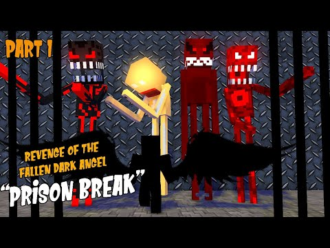 "Monster School Season 3:PART 1 DARK ANGEL | REVENGE OF THE FALLEN ""JAIL BREAK "" -Minecraft Animation"
