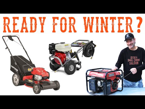 How To Winterize A Lawn Mower, Generator, Pressure Washer, Etc. - Video