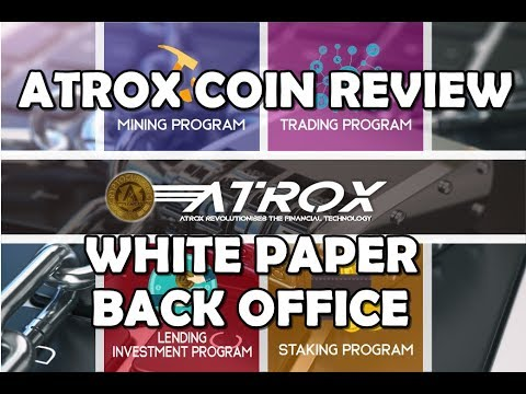 ATROX COIN REVIEW WHITE PAPER, BACK OFFICE INDONESIA