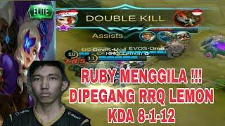 Skill Dewa RRQ Lemon Pake Hero RUBY KDA 8-1-12 Mobile Legend Indonesia