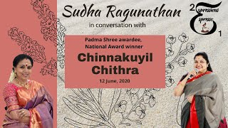 Chinnakuyil Chithra in a casual chat with  Sudha Ragunathan for Expressions Espresso Season 2 YouTube Videos