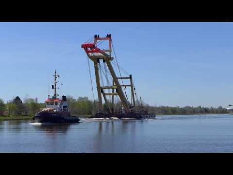 Enak  , Schwimmkran / floating crane / Kiel Canal
