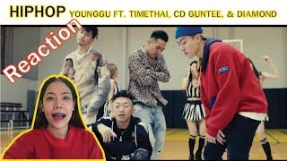 Reaction YOUNGGU - HIPHOP FT. TIMETHAI, CD GUNTEE, & DIAMOND l【THAILAND RECAP/REVIEW/REACTION】