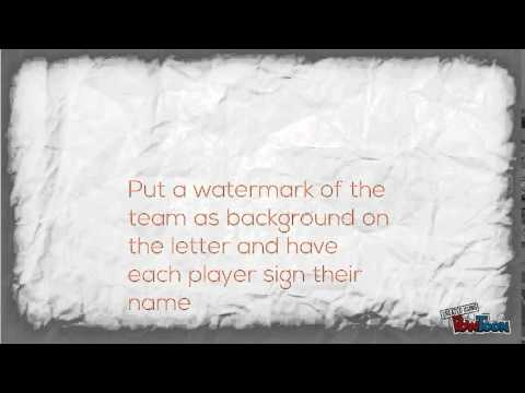 How to write a sponsorship letter for your sports team - YouTube
