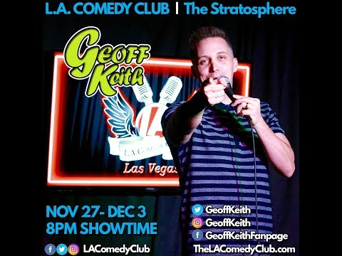 Comedian Geoff Keith Headlines L.A. Comedy Club inside the Stratosphere Casino in Las Vegas.