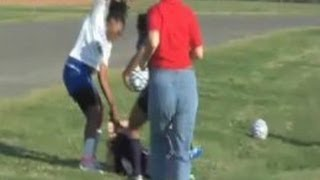 Girls Soccer Fight