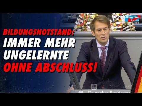 Bildungsnotstand: Immer mehr Ungelernte ohne Abschluss! - Götz Frömming - AfD-Fraktion im Bundestag
