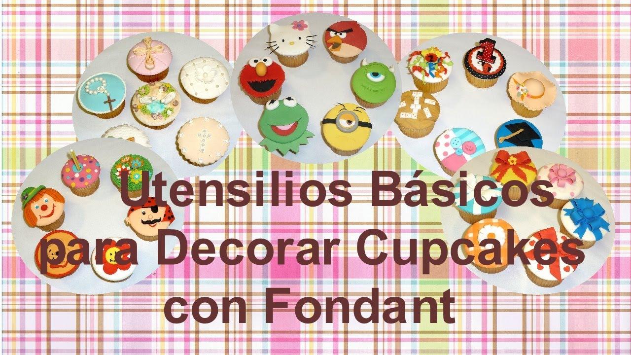 Utensilios Básicos para Decorar Cupcakes con Fondant │Club de Reposteria