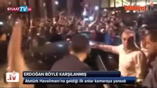Reis Recep Tayyip Erdoğan'ın yeşilköy hava alanına ASLANLAR gibi gelişi!