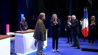 Bannon joins Le Pen at Front National Congress thumbnail
