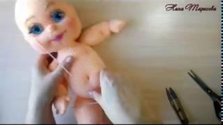 Оформление лица куклы.. Мастер-класс.  Урок 5 Тонировка, брови