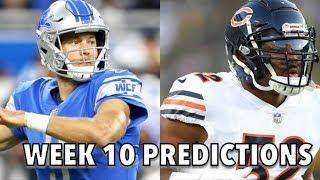 BEARS VS LIONS WEEK 10 PREDICTIONS