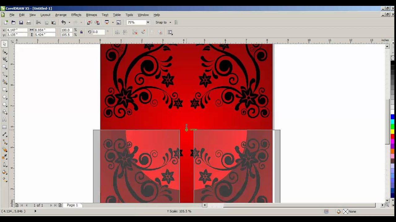 How To Create Greeting Card Design In CorelDraw X5 Tamil Part 1