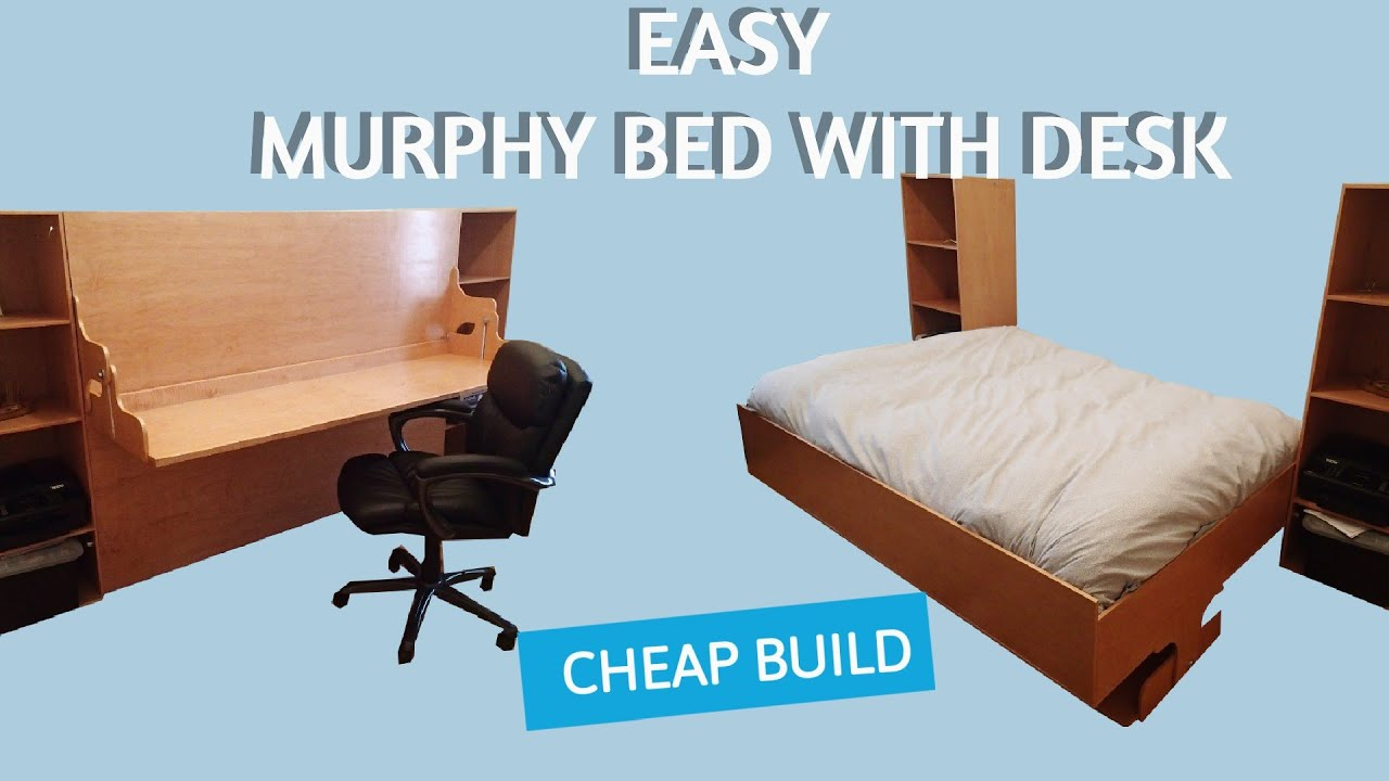 DIY Murphy Bed Desk Combo Plans - YouTube