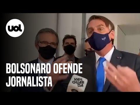 BOMBA !  Video do Bolsonaro mandando a repórter a calar a boca - 2021