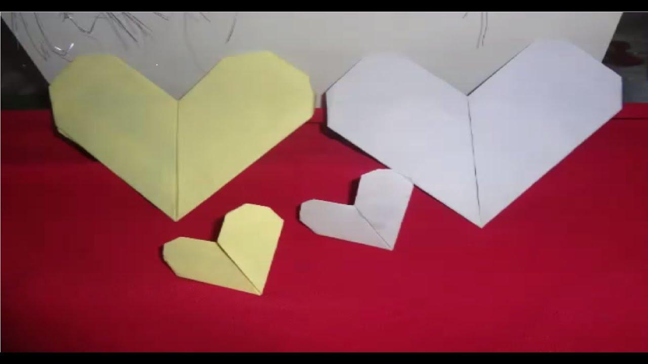Adesivo Delineador Agustin ~ coraçao de papel origami (passo a passo) YouTube