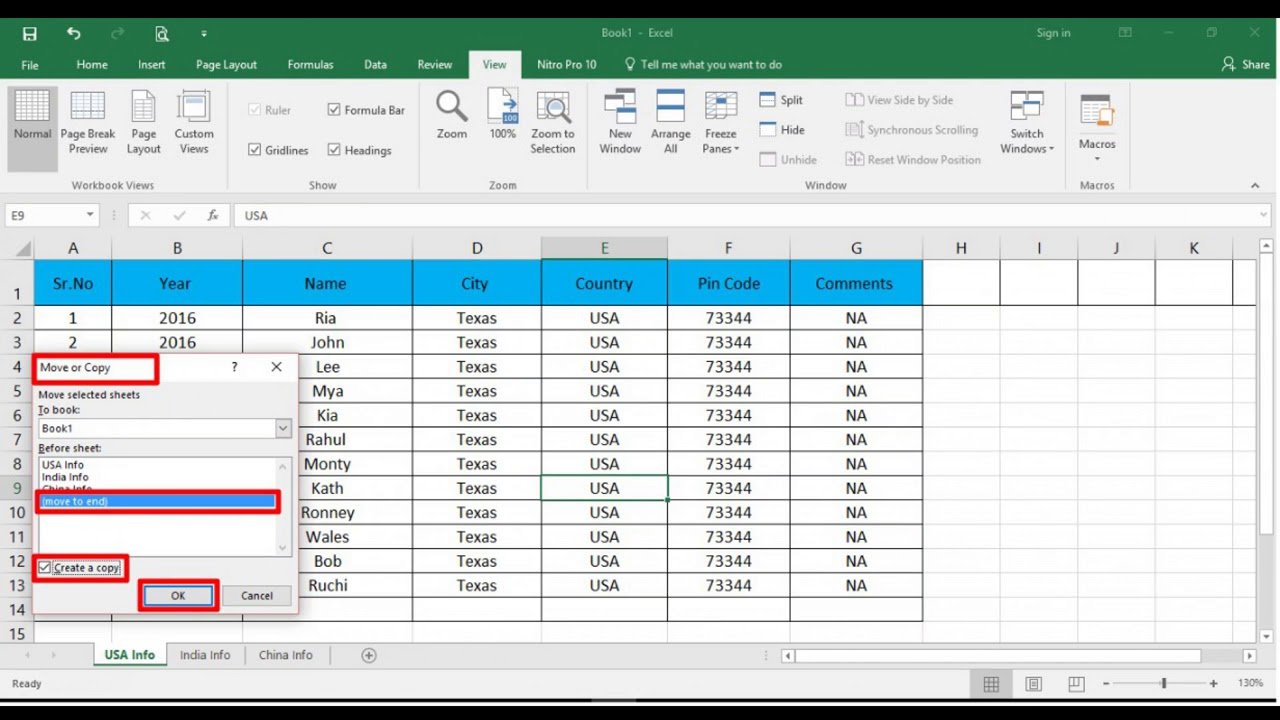 How To Copy Move Amp Rename A Worksheet In Excel