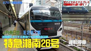 【JR東日本】貨物線を行く「特急湘南26号」E257系 ~ザ・ロイヤルエクスプレスの甲種輸送も追い抜く~