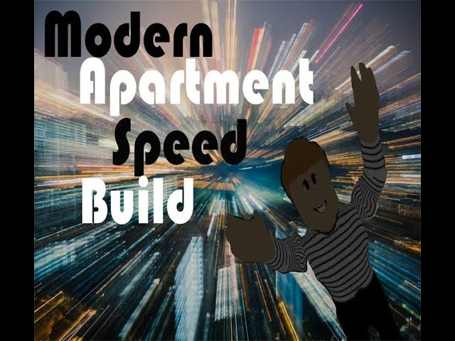 Modern Apartment Speed Build ft. Redheadgirl Z | Roblox Bloxburg