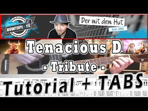 TRIBUTE - Tenacious D Gitarren Tutorial + Tabs/Chords | How to play Lesson