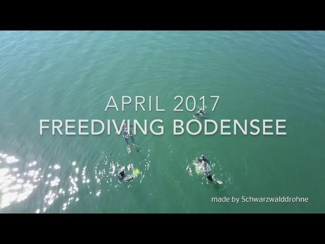 Freediving Tauchgang zur Lädine am Bodensee
