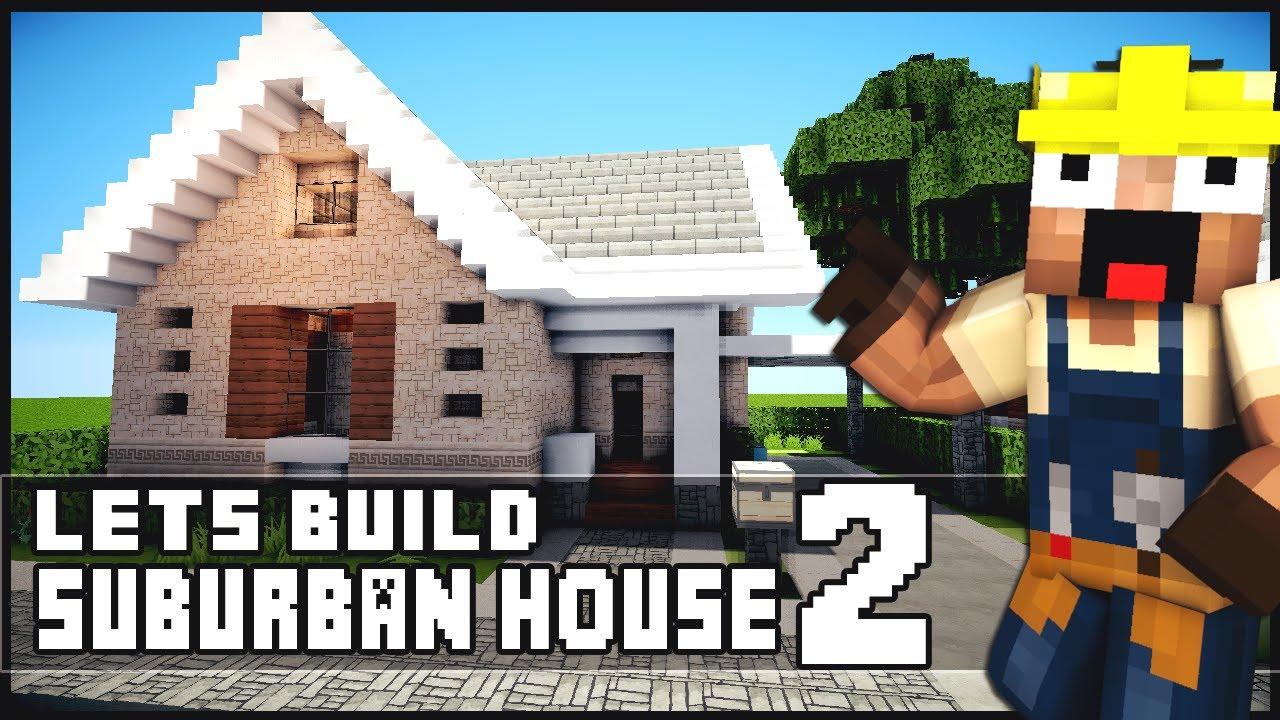 Minecraft house tutorial suburban house part 2 for Modern house 7 part 2