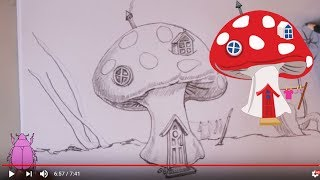 How to Draw a Fairy Mushroom House