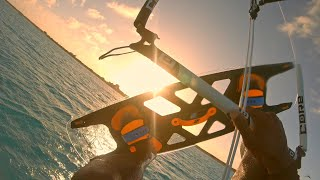 Kiteboarding sunset session with a Core XR6 and INOBO modular board.