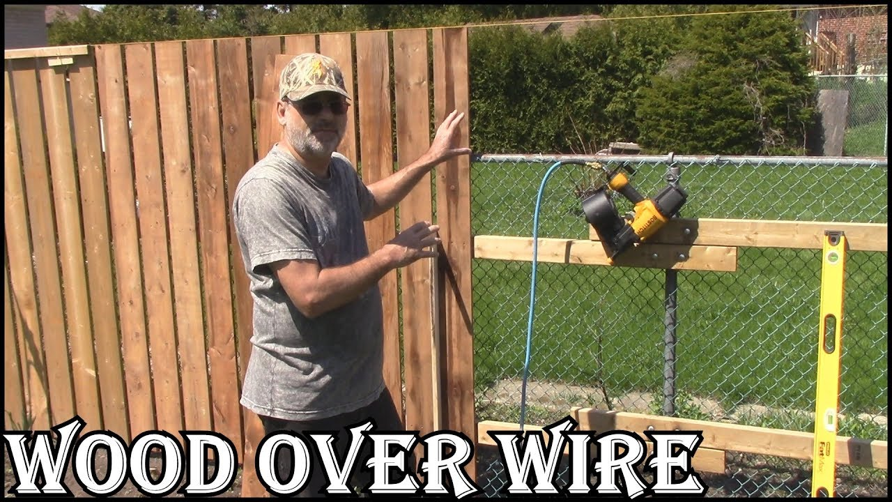Wooden Fence Over A Wire Fence Wood Veneer Style Easy To Do Youtube