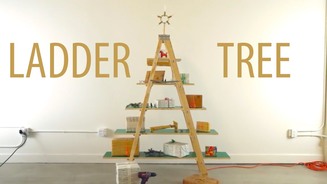 ladder christmas tree - Christmas Tree Ladder Decoration