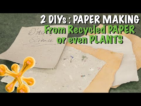 How to Make Paper from Recycled Paper or even Plants - dArtofScience