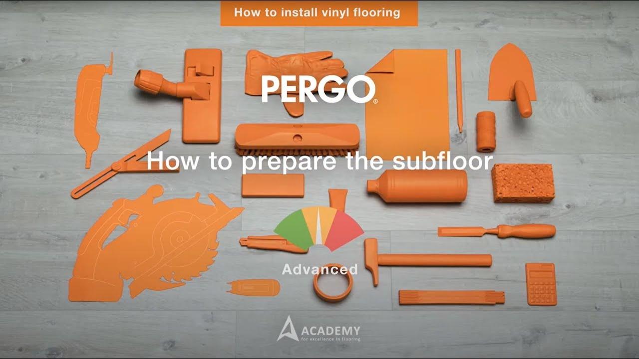 Installing Pergo vinyl flooring - Prepare your subfloor