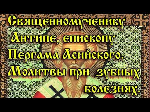 61.Священномученику Антипе, епископу Пергама Асийского.  Молитвы при зубных болезнях.