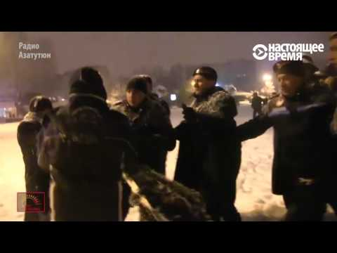 Полиция в Ереване избивает елку