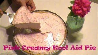 No Bake Pink Creamy Kool Aid Pie