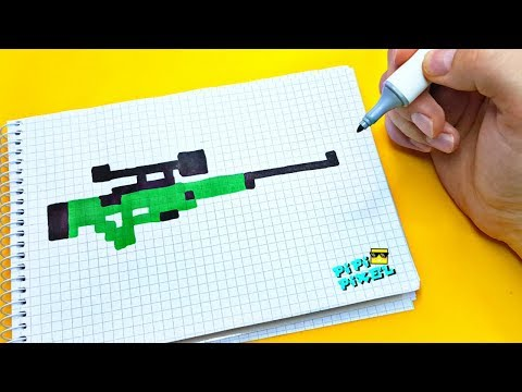 PIXEL ART AWP снайперская винтовка AWM ! РИСУНКИ ПО КЛЕТОЧКАМ ! авп авм AWP Sniper Pubg Cs