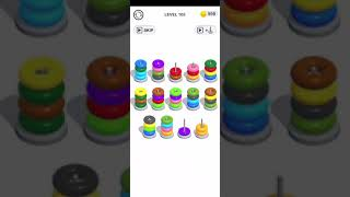 Color Hoop Stack Puzzle Level 105 Walkthrough Solution iOS/Android screenshot 1