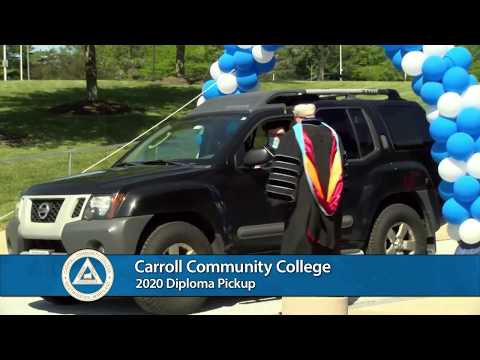 Carroll Community College 2020 Diploma Pickup