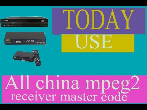 All china receiver mpeg2 master password new 2017