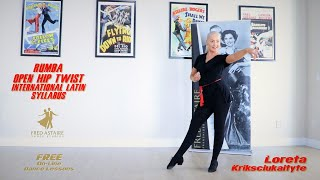 International Rumba Open Hip Twist by Loreta I International Latin Syllabus