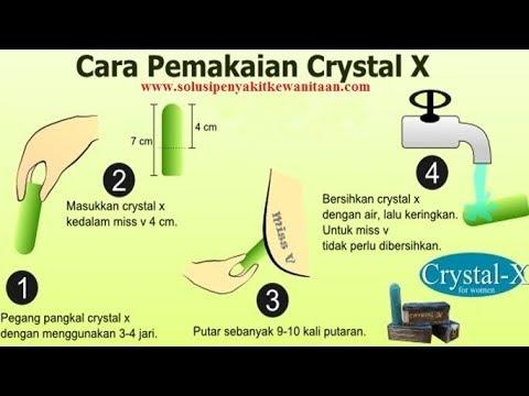 Cara Memakai CRYSTAL X Yang Benar 0822 2720 4223
