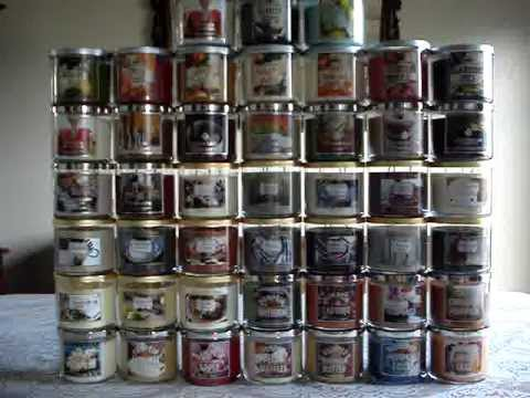Bath and Body Works Candle Haul Review- 2013 FALL TEST SCENT CANDLES/COLLECTION 7-24-2013