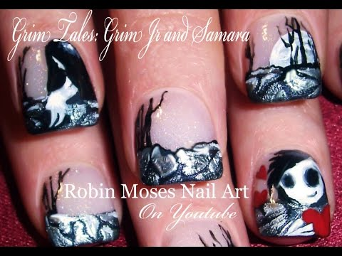 Grim jr and samara nails grim tales gothic nail art design grim jr and samara nails grim tales gothic nail art design tutorial prinsesfo Image collections