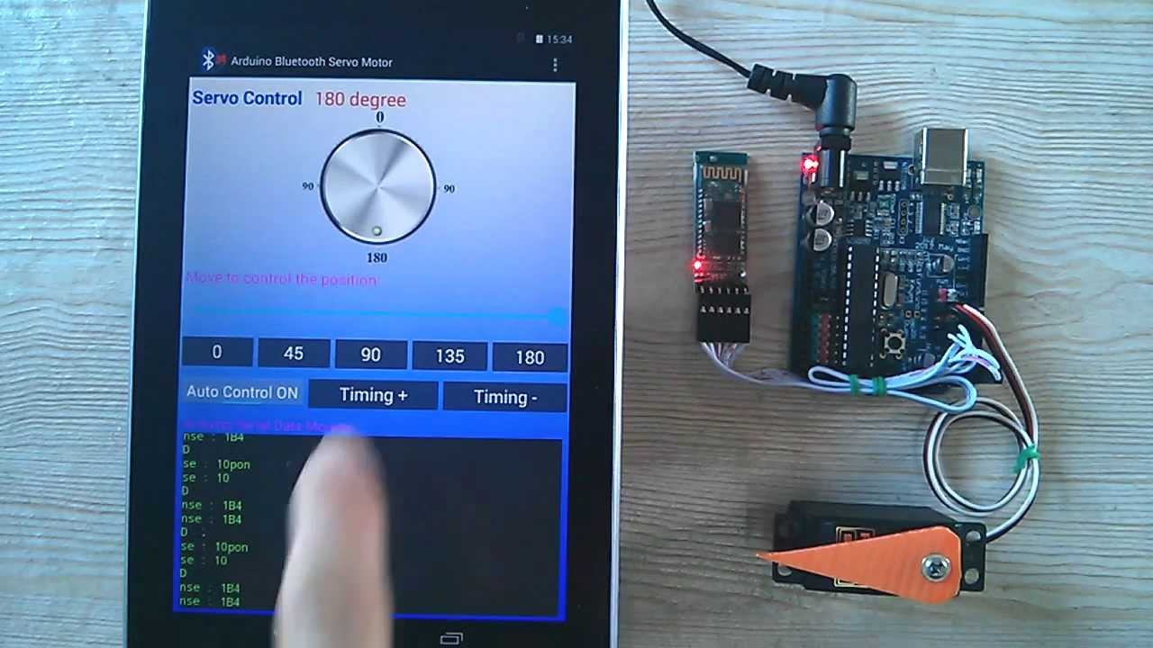 Arduino android bluetooth servo motor control youtube