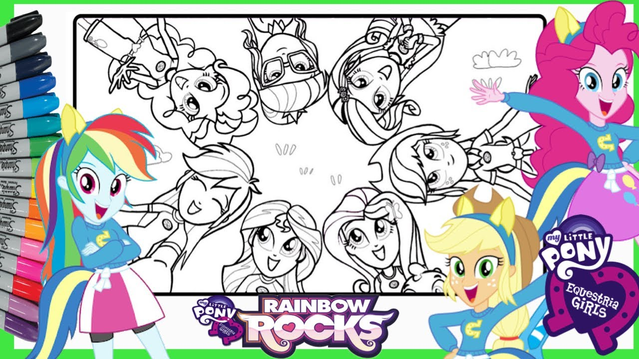 Mewarnai Kuda Poni Mlp My Little Pony Equestria Girls Coloring Pages Youtube